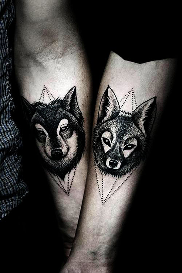 Wolf and Fox Tattoo