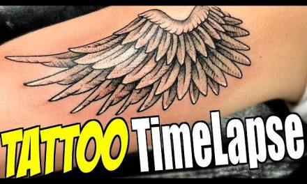 TATTOO TimeLapse – Angel Wing Dotwork (by Romeo Lacoste ft. Tanner Braungardt)