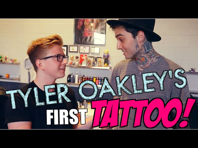 Tyler Oakley gets his 1st TATTOO??
