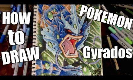 How To Draw Pokemon : GYRADOS !!