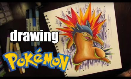 How To Draw POKEMON – Typhlosion SPEED drawing !