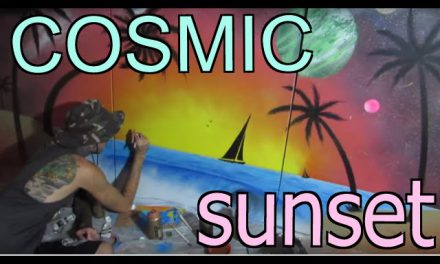 cosmic sunset SPEED PAINTING
