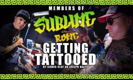 Members of Sublime with Rome Getting Tattooed by Sirris Slay an Joseph Haefs