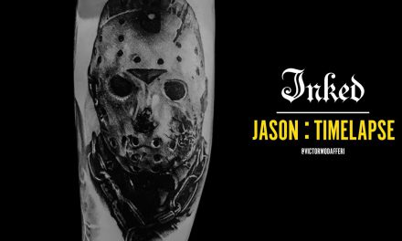 Jason mask time lapse – Inked