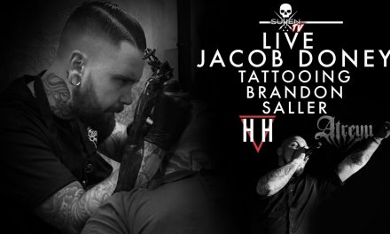 Live Tattoo | Jacob Doney Tattoos Brandon Saller of Atreyu & Hell Or Highwater