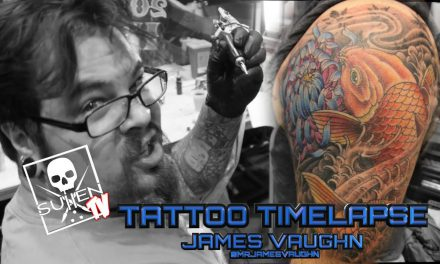 Tattoo Time Lapse – James Vaughn – Tattoos Color Coy Fish
