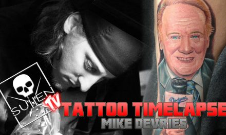 Tattoo Time Lapse – Mike Devries – Tattoos Dodger Announcer Vin Scully