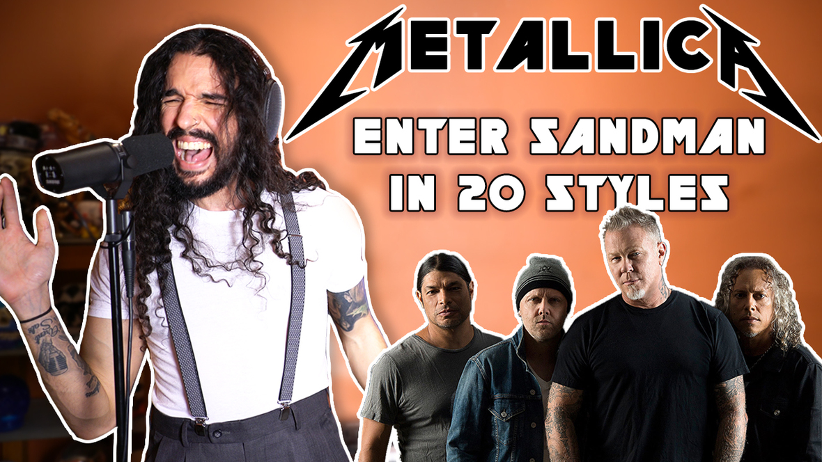 """Anthony Vincent of 10 Second Songs Releases METALLICA'S """"Enter Sandman"""" in 20 Styles"""