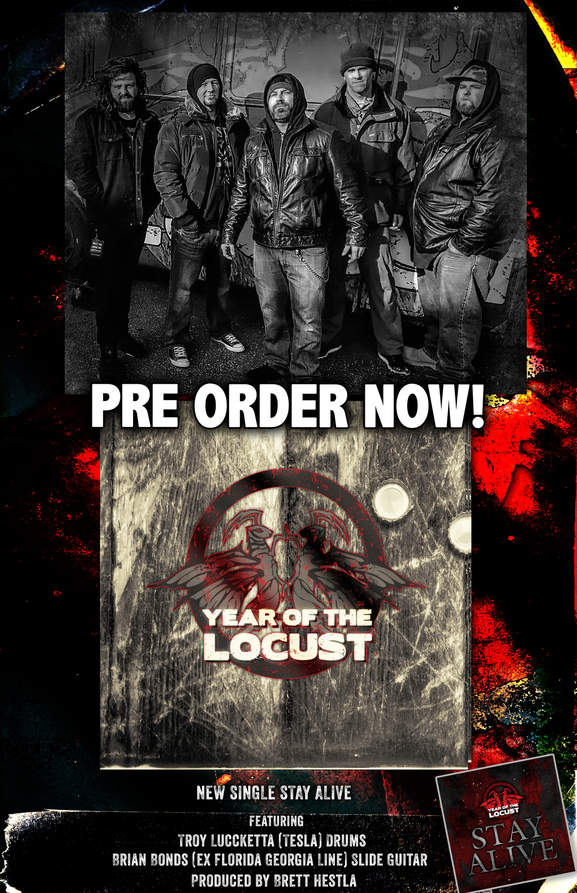 """YEAR OF THE LOCUST Release Lyric Video for """"Stay Alive,"""" Pre-Order NOW"""