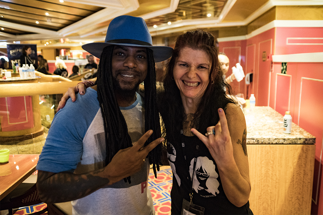Sevendust's Lajon Witherspoon and Mischievous Mel get rowdy aboard Shiprocked '19