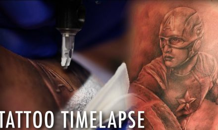 Tattoo Time Lapse of  Captain America of The Avengers – Ryan Mullins