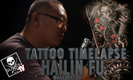 Tattoo Time Lapse – Hailin Fu (3 Day Back Piece)