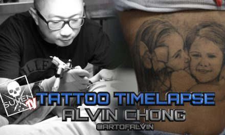 Tattoo Time Lapse – Alvin Chong – Tattoos Black and Grey Childrens Portraits on Bernadette Macias