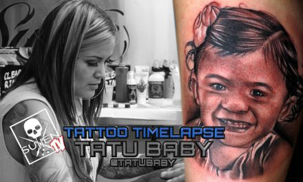 Tattoo Time Lapse – Tatu Baby – Tattoos Black and Grey Child Portrait