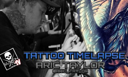 Tattoo Time Lapse – Aric Taylor – Tattoos Color Raven on Forearm