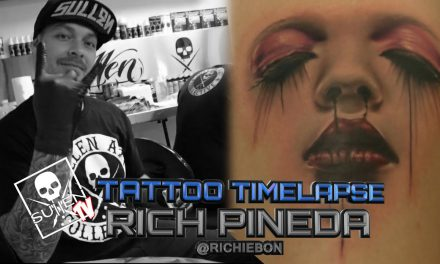 Tattoo Time Lapse – Rich Pineda – Tattoos Stylized Womans Face