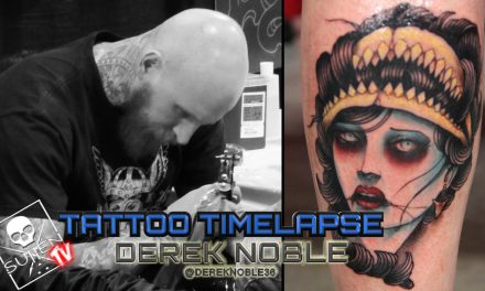 Tattoo Time Lapse – Derek Noble – Tattoos Neo Traditional Shark Woman