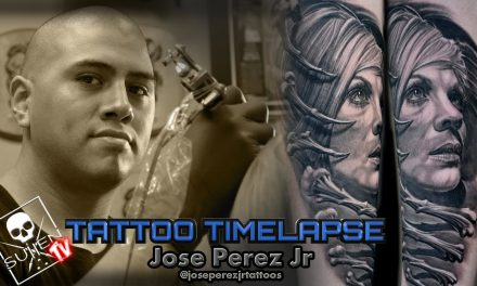 Tattoo Time Lapse – Jose Perez Jr. – Tattoos Black and Grey Portrait
