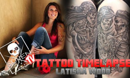 Tattoo Time Lapse – Latisha Wood – Tattoos Skeleton Embrace
