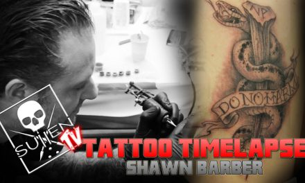 Tattoo Time Lapse – Shawn Barber – Tattoos Custom Snake and Stake