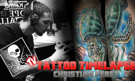Tattoo Time Lapse – Christian Perez – Tattoos Realistic Color Turtle