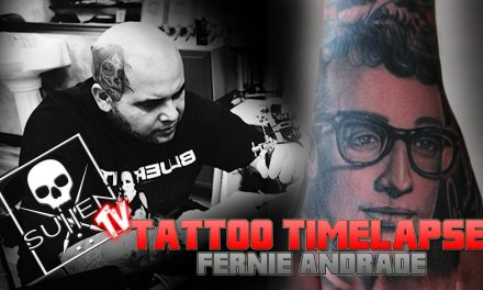 Tattoo Time Lapse – Fernie Andrade – Tattoos Buddy Holly Portrait