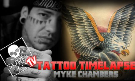 Tattoo Time Lapse – Myke Chambers – Tattoos HUGE Eagle on Stomach