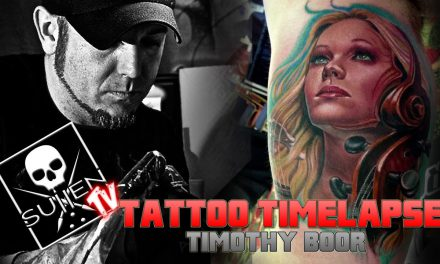 Tattoo Time Lapse – Timothy Boor – Tattoos Color Woman Infused with Cello