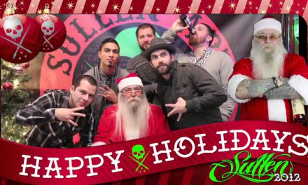 Sullen Holiday Party with tattooed Santa Rick Walters
