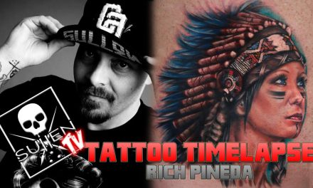 Tattoo Time Lapse – Rich Pineda – Tattoos Sullen Clothing Co Owners Wife in Indian Headress
