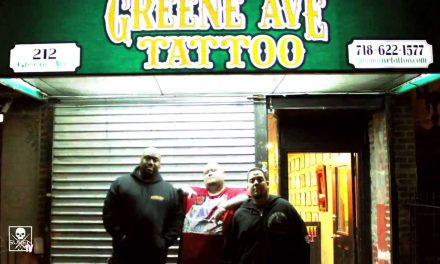 Big Jaz tours Greene Ave. Tattoo in Brooklyn