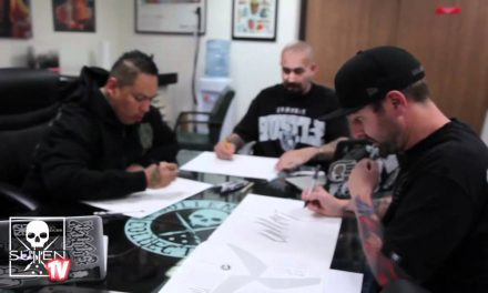 Boog Star and Big Sleeps drawing at Sullen Headquarters