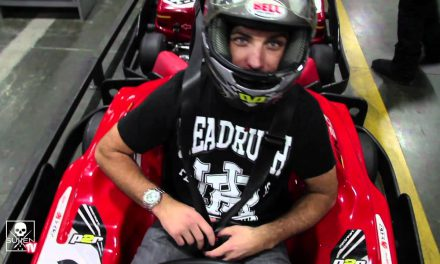 Monster Gives Back Celebrity Go Cart race with Make-A-Wish