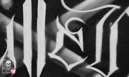 Fresh Paint – Mural By Kalm One SKA on  the Sullen TV wall at the Sullen Art Collective HQ