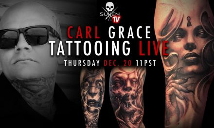 Carl Grace freehand tattoo