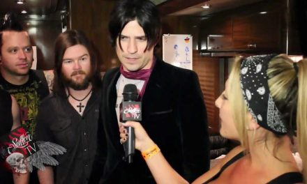 Hinder talks from their Tour Bus!!