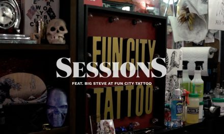 Tattoodo | Sessions: Big Steve at Fun City NYC Does a Sweet Fineline Cherub Chest Tattoo