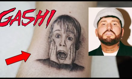 "GASHI gets ""Home Alone"" TATTOO! by Romeo Lacoste"