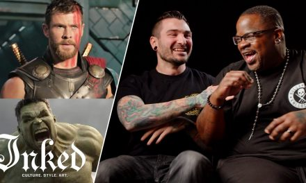 Which Tattoo is Better: Superhero Edition   Tattoo Artists React