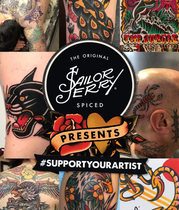 SAILOR JERRY SPICED RUM LAUNCHES #SupportYourArtist COVID-19 Campaign