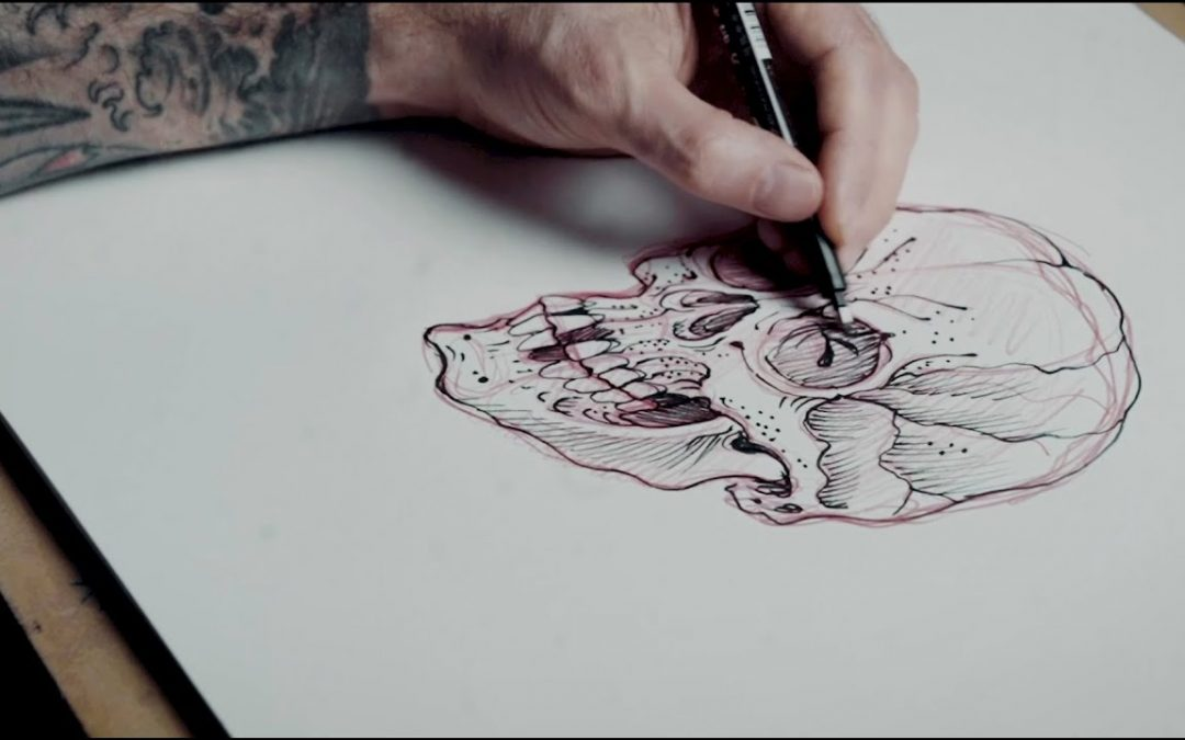 Chris Garver's Japanese Skull Tutorial | Tattoodo | Art Class