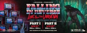 FALLING IN REVERSE | Release Cinematic Video For 'I'm Not A Vampire (Revamped)' Plus Band Announces 'Live From the Unknown' Livestream Experience.