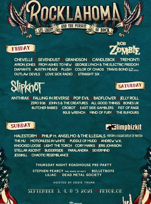 ROCKLAHOMA | Daily Lineups Announced; Single Day Tickets On Sale Friday, July 30 at 10:00 AM CT