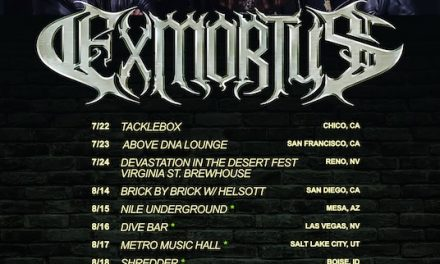 Thrash/Shred Metal Heroes EXMORTUS Announce Summer U.S. Tour Dates With New Album Due For Release In 2022..
