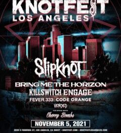 Slipknot Announce 'Knotfest Los Angeles' With Bring Me The Horizon, Killswitch Engage, Fever 333, Code Orange, Vended And Special Guests, Cherry Bombs.