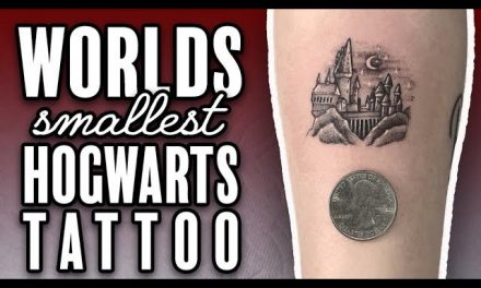 Worlds SMALLEST Hogwarts TATTOO!! by Romeo Lacoste
